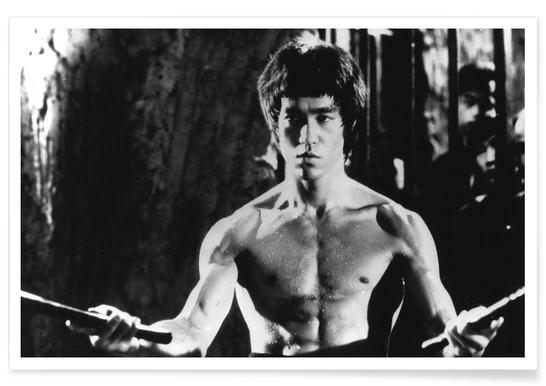 Bruce Lee dans Enter the Dragon. - Photographie affiche