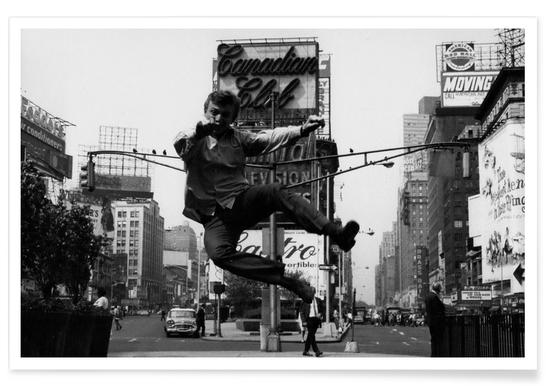 Tommy Steele at Times Square Photograph Poster