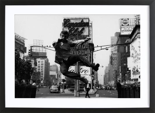 Tommy Steele at Times Square affiche sous cadre en bois