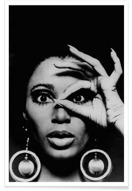 Donyale Luna, 1970 Vintage Photograph Poster