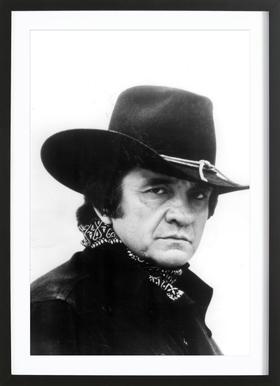 Country Singer, Johnny Cash Framed Print