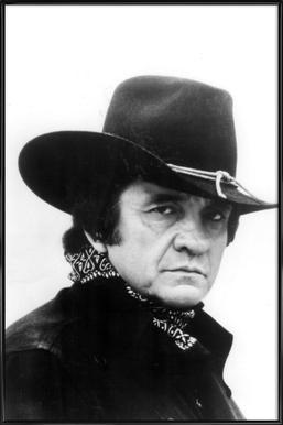 Country Singer, Johnny Cash affiche encadrée