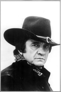 Country Singer, Johnny Cash affiche sous cadre en aluminium