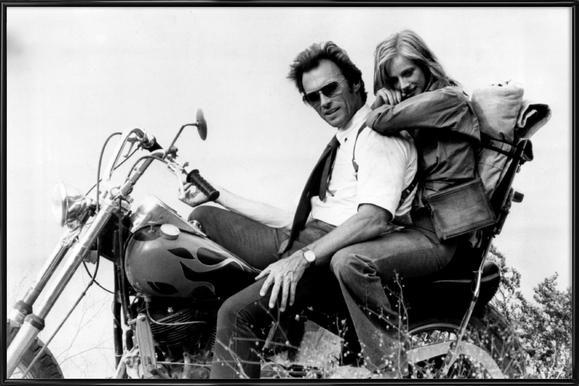Clint Eastwood & Sondra Locke in 'The Gauntlet' Framed Poster