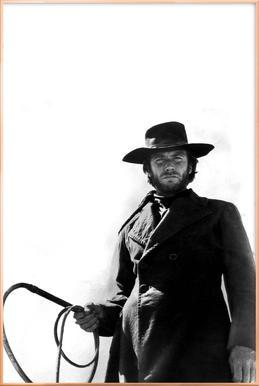 Clint Eastwood as 'The Stranger' Poster in Aluminium Frame