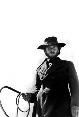 Clint Eastwood as 'The Stranger' tableau en verre