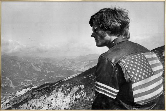 Easy Rider, Peter Fonda Poster in Aluminium Frame