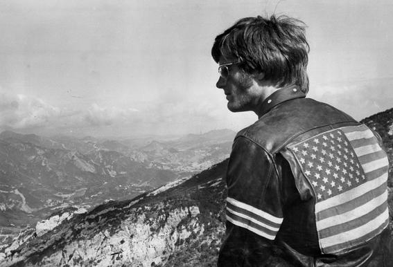 Easy Rider, Peter Fonda Impression sur alu-Dibond