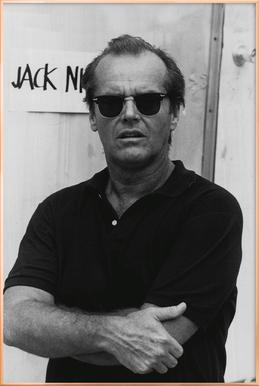 Jack Nicholson in Sunglasses Poster in Aluminium Frame