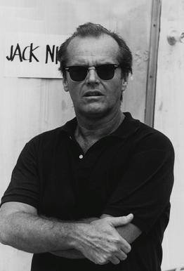 Jack Nicholson in Sunglasses tableau en verre