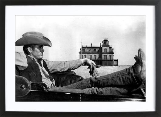 James Dean in 'Giant' affiche sous cadre en bois