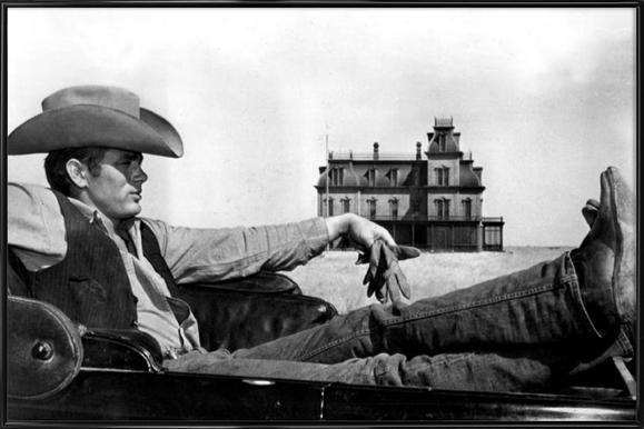 James Dean in 'Giant' Framed Poster