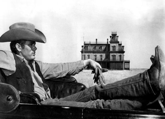 James Dean in 'Giant' toile