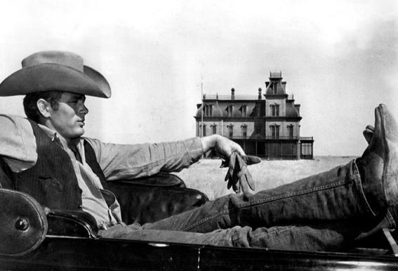 James Dean in 'Giant' tableau en verre