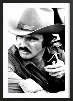 Burt Reynolds in 'Smokey and the Bandit' affiche sous cadre en bois