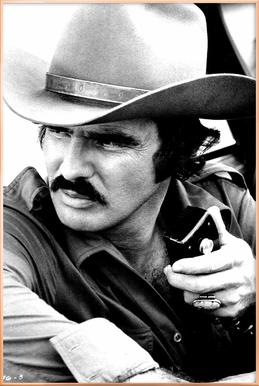 Burt Reynolds in 'Smokey and the Bandit' Poster in Aluminium Frame