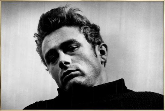 James Dean, 1955 Poster in Aluminium Frame
