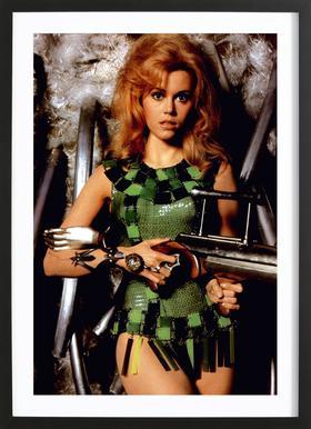 Jane Fonda as 'Barbarella' affiche sous cadre en bois