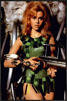 Jane Fonda as 'Barbarella' affiche encadrée