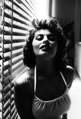 Sophia Loren Portrait tableau en verre