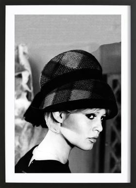 Brigitte Bardot with Hat Framed Print
