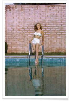 Young Marilyn Monroe Poolside I Poster