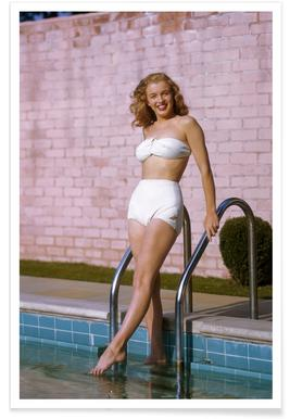 Young Marilyn Monroe Poolside II Poster
