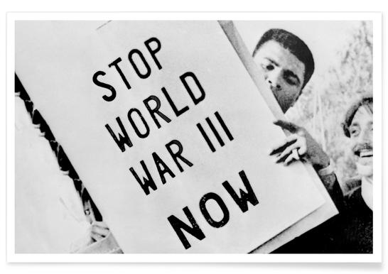 Cassius Clay Anti-War Demonstration Photograph Poster