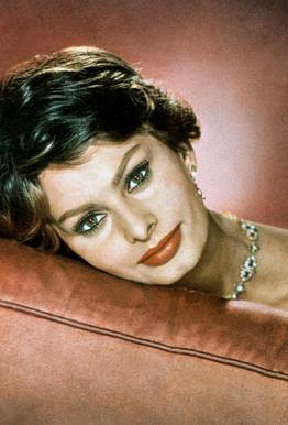 Sophia Loren in the Sixties tableau en verre