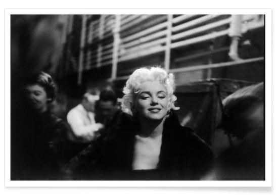 Marilyn Monroe dans le métro - Photographie affiche