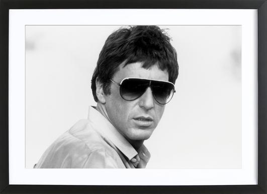 Al Pacino as Tony Montana in 'Scarface' affiche sous cadre en bois