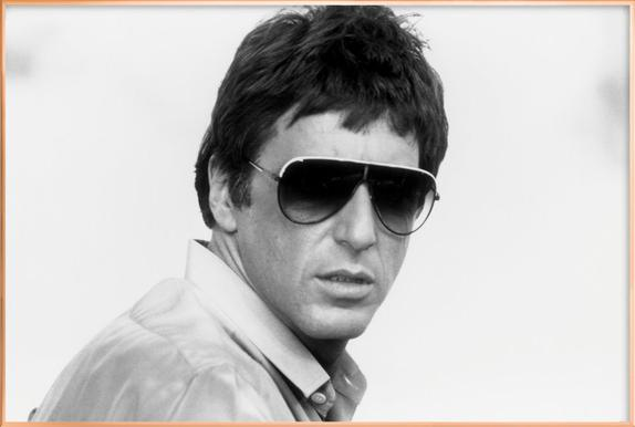 Al Pacino as Tony Montana in \'Scarface\' as Poster in Aluminium Frame ...