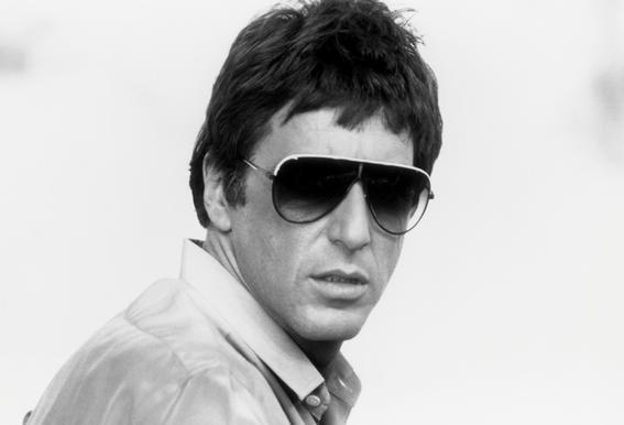 Al Pacino as Tony Montana in 'Scarface' tableau en verre