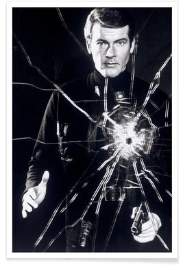 Roger Moore in 'Live and Let Die' - Photographie affiche