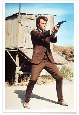 Clint Eastwood in Dirty Harry Photograph Poster