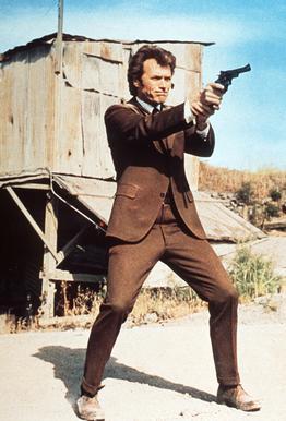 Clint Eastwood in 'Dirty Harry' tableau en verre