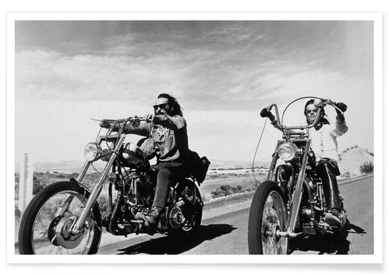 Dennis Hopper & Peter Fonda, 'Easy Rider' Poster
