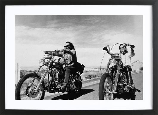 Dennis Hopper & Peter Fonda, 'Easy Rider' affiche sous cadre en bois