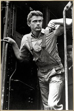 James Dean, 'East of Eden' affiche sous cadre en aluminium