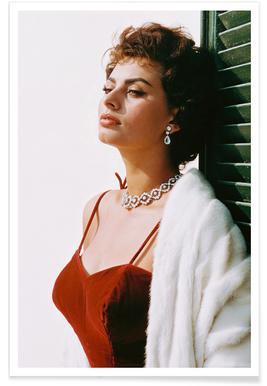 Sophia Loren in Red affiche