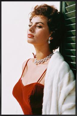 Sophia Loren in Red affiche encadrée