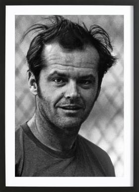 Jack Nicholson in 'One Flew Over the Cuckoo's Nest' affiche sous cadre en bois
