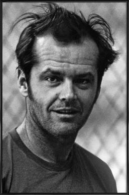 Jack Nicholson in 'One Flew Over the Cuckoo's Nest' affiche encadrée