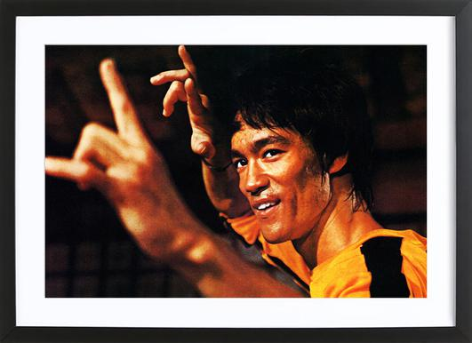 Bruce Lee in 'Game of Death' Framed Print
