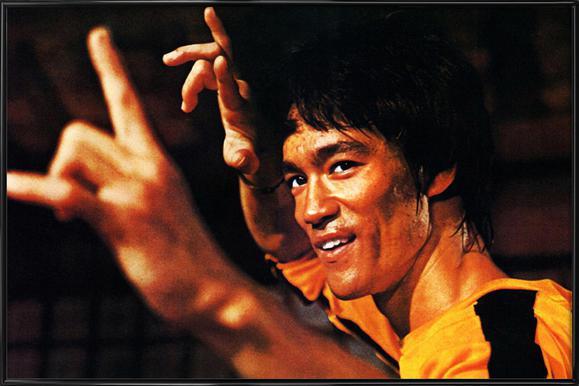 Bruce Lee in 'Game of Death' affiche encadrée