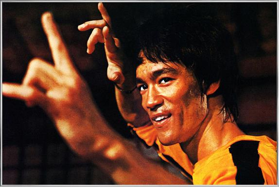 Bruce Lee in 'Game of Death' affiche sous cadre en aluminium