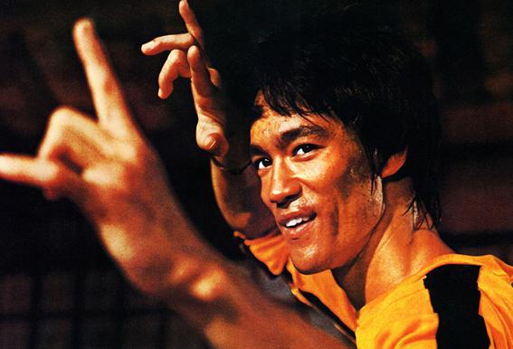 Bruce Lee in 'Game of Death' Impression sur alu-Dibond