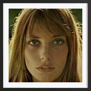 Jane Birkin affiche sous cadre en bois