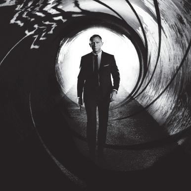 Daniel Craig in 'Skyfall' Impression sur alu-Dibond