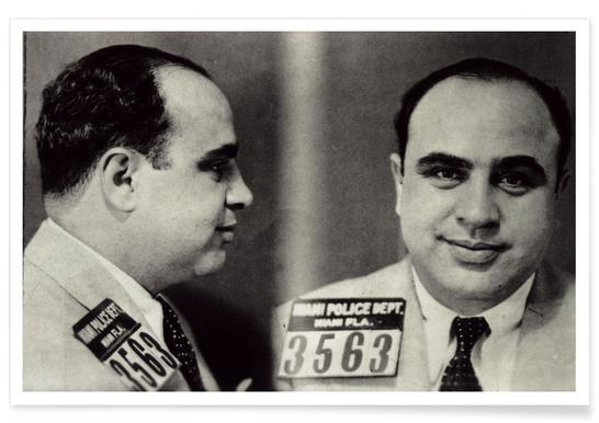 Mugshot d'Al Capone - Photographie affiche